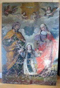 San José y Santa Ana con la Virgen niña